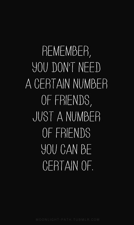 a number of friends