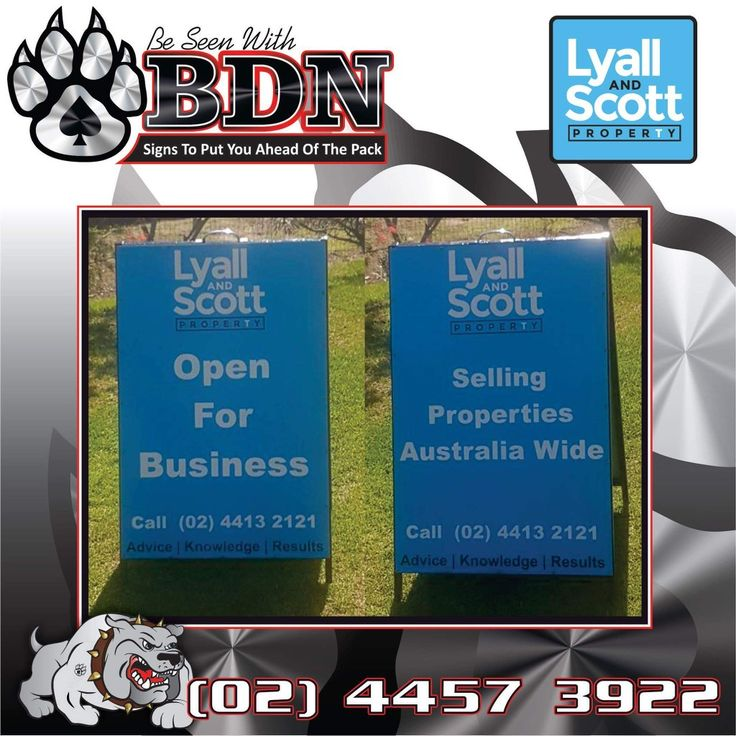 BDN Signs did this A frame sign for Lyall and Scott Property Ulladulla Lake Tabourie  Signwriter  Signs