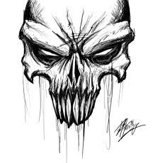 Image result for cool skull drawings in pencil