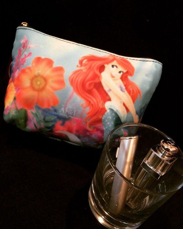 Disney Little Mermaid Ariel Makeup Cosmetic Bag 8x12cm (7.08x4.72in) Japan F/S #Disney