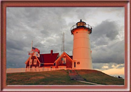 Nobska Point Lighthouse, Woods Hole, Cape Cod, Massachusetts