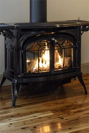 I have a Vermont Castings Stove like this!  ♥~sandra de~My Romantic Heart~♥