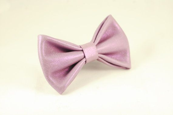 Shiny lavender bow tie by LimeG on Etsy
