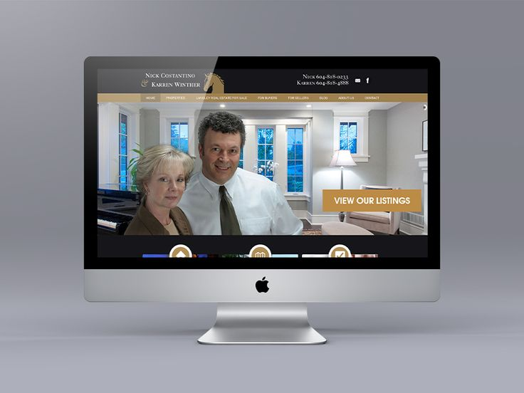 New website for Fraser Valley Realtors Karren Winthers and Nick Costantino. Uses the Ubertor CMS.