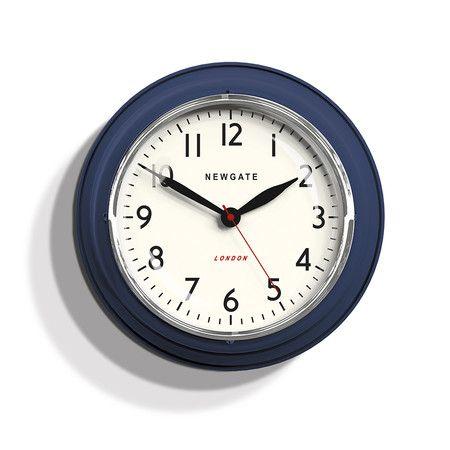 Newgate Clocks - The Mini Cookhouse Clock - Inkwell Blue