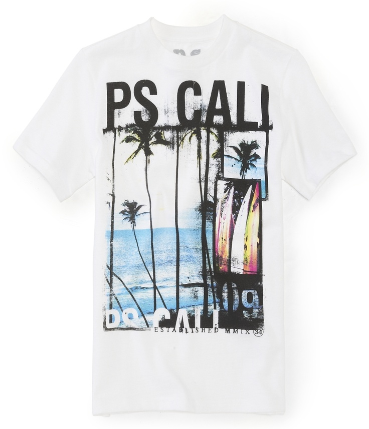 Kids' PS Cali 09 Graphic T - PS From Aeropostale  (Surf, Photo Real)