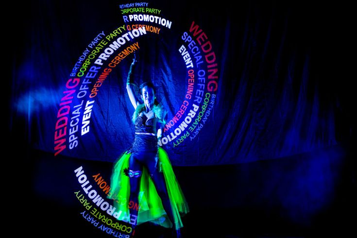 Visual Pixel Poi dancer - Anta Agni.   Visual Pixel Poi technology (also known as graphic juggling with LED poi) enables dancers and performers to display graphic elements during the performance that will become a part of the Fire or UV Light show.  http://antaagni.com/visual-pixel-show/