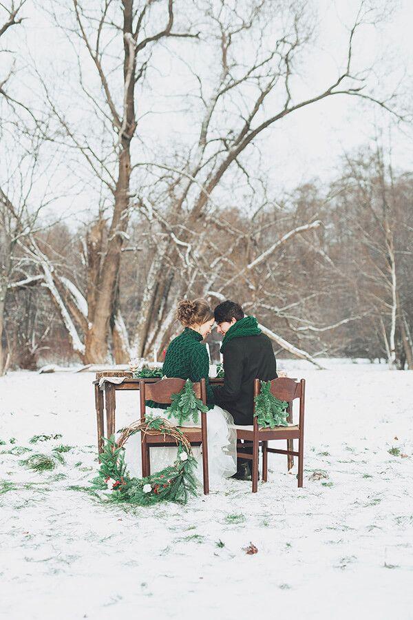 Красивая зимняя свадьба рустик (Настя и Николай)