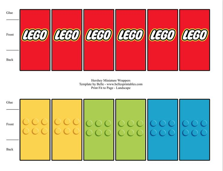 FREE Lego Mini Candy Bar Wrapper Printable