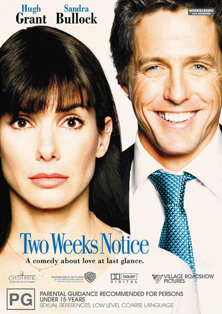 Two Weeks Notice ( 2002 ) Movies Pinterest Movie, Movie list - 2 weeks notice