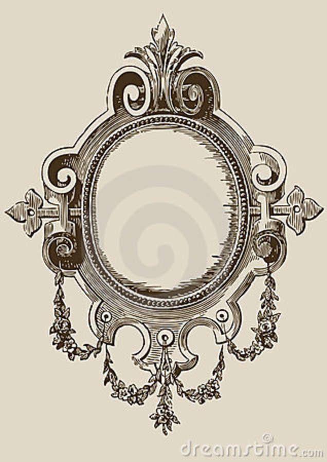 Vintage Mirror Frame Tattoo Wallpaper Rahmen Tattoos