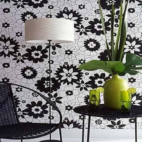 lovely floral black amp white wallpaper