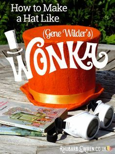 DIY your very own Gene Wilder-Style Willy Wonka Hat for Roald Dahl Day!
