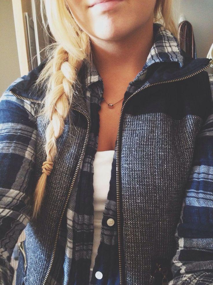 flannel + vest