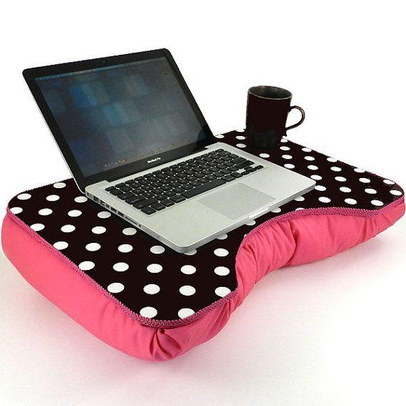 Large Pink And Black Polka Dot Lap Desk Lap Desk Desks