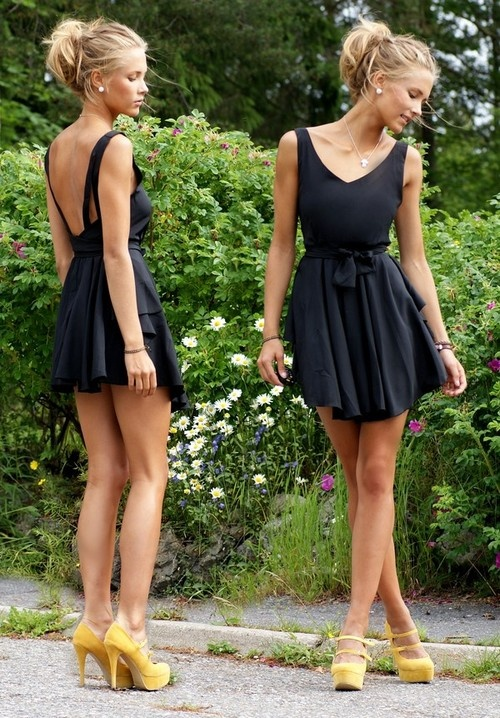 Awesome Cute black wedding guest dress