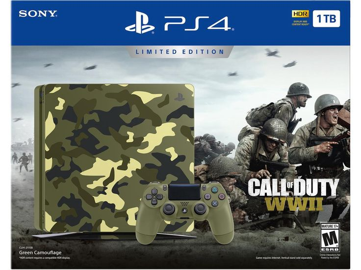 PlayStation 1TB Slim Call of Duty WWII LE bundle for $199.99 on Newegg
