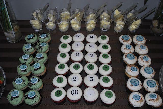 calculator cupcake for accounting major grad party | Food ...