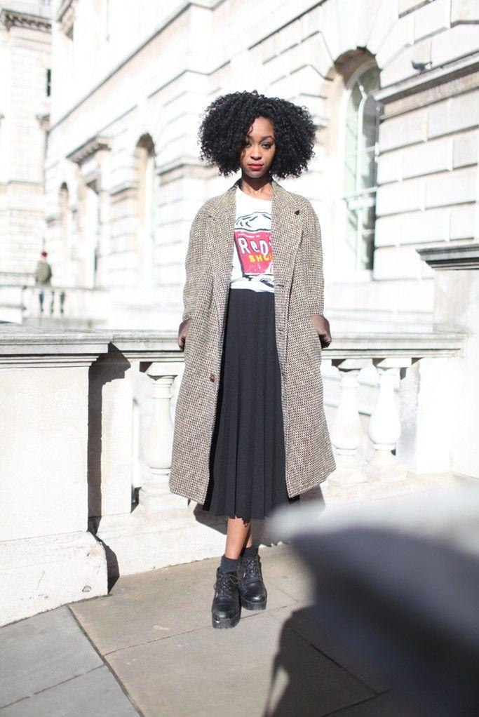 London Fashion Week street style. [Photo by Kuba Dabrowski]: