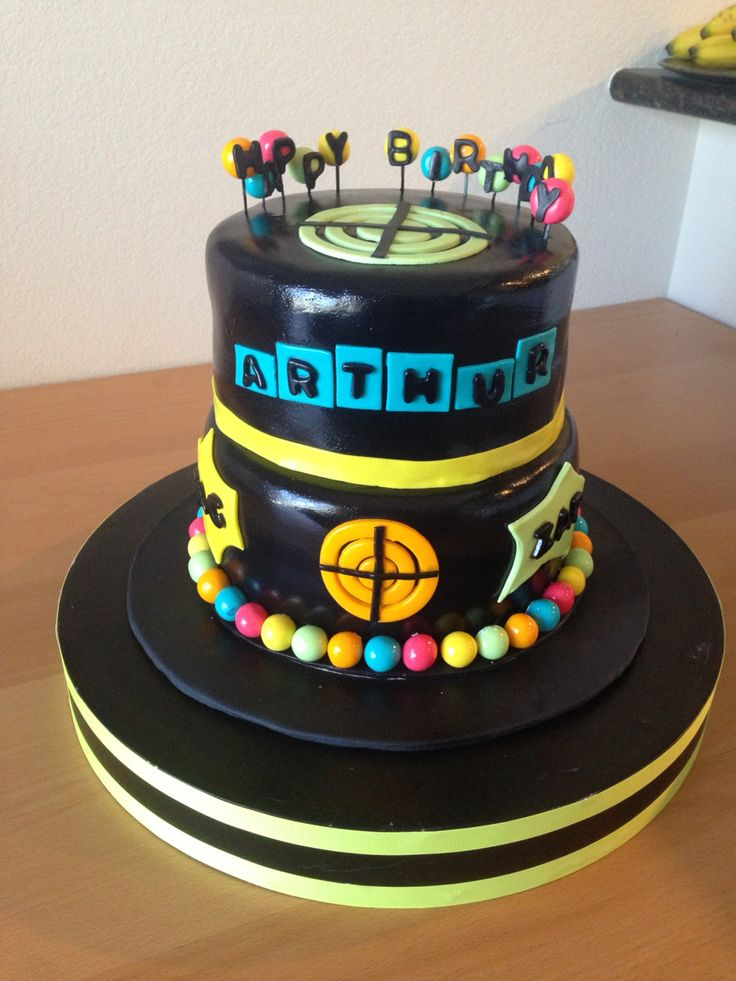 Laser Tag Birthday Cake I Made This Chocolate Cake With