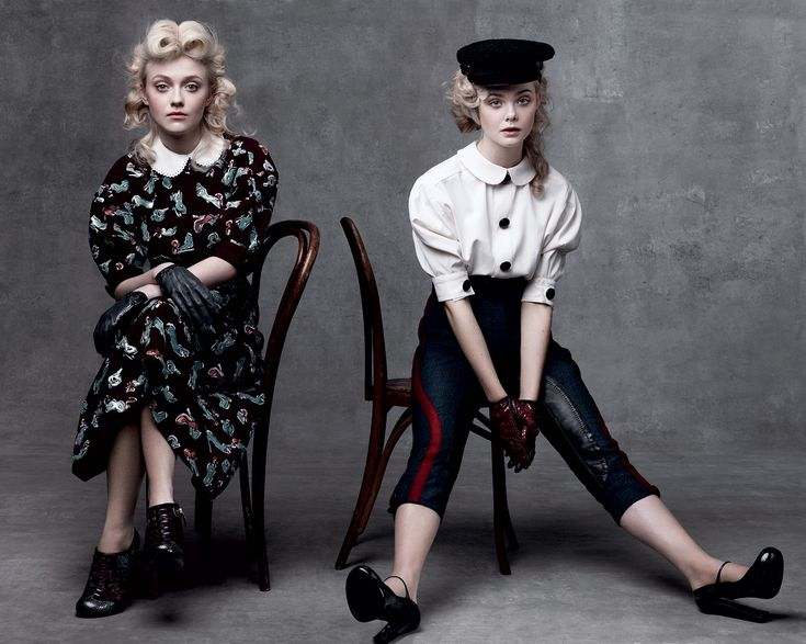 Elle & Dakota Fanning + Vogue = One of my favorite images