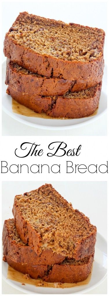 The Best Basic Banana Bread - soft, fluffy, and so incredible!!!!