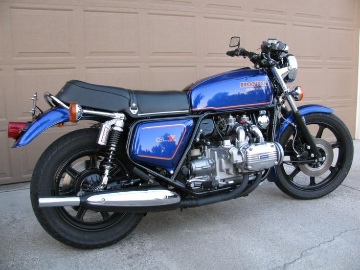 Honda GL1000 shiny blue | GL1000 Pics | Pinterest | Honda ...