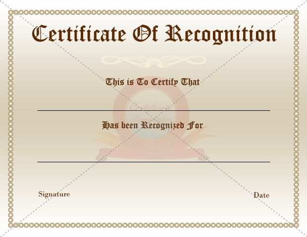 12 best RECOGNITION CERTIFICATE TEMPLATES images on Pinterest - best of download certificate of appreciation