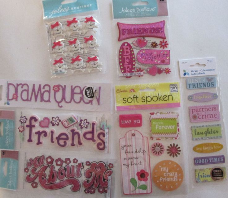 Jolee's Boutique & Soft Spoken Scrapbooking Stickers Lot FRIENDS Friendship…