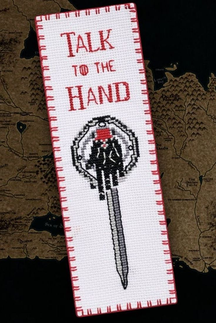 Hand Of The King Bookmark Cross Stitch Pattern Game Of Thrones