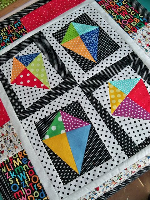 Kites! Great baby quilt for eye stimulation!