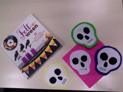 Liz, one of our lovely staff members, has appointed herself chief pattern-tester for some new craft books that have arrived at Hume Libraries. How cute are these!?! Click through to reserve a copy of 'Felt-O-Ween' for yourself and get your craft on!