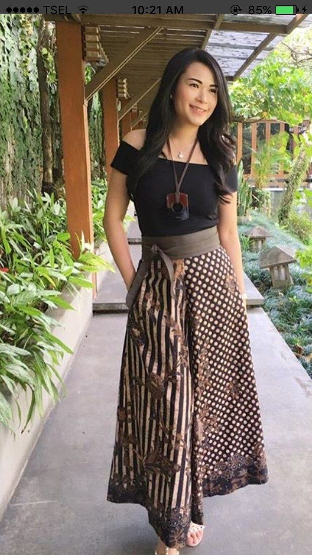 3e214baf2d Chic Batik Outfits For Your Trend Fashion26 | Indonesia in 2019 ...