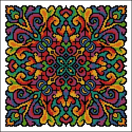 Here is a special mandala for you. Some of you...if you're not into this sort of thing (tolerance) please just scroll along to the next blog...