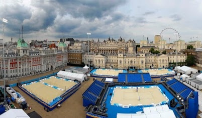 Beach Volleyball in central London! Top teams from around the world competed at the Visa FIVB Beach Volleyball International taking place at Horse Guards Parade from 9-14 August.