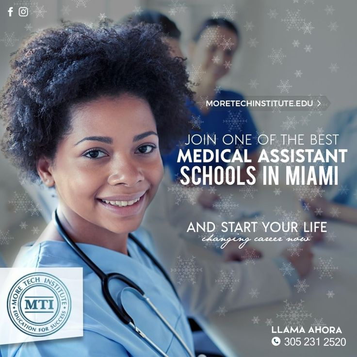 Join one of the best medical assistant schools in Miami and start your life-changing career now. CLASSES STARTING ON JANUARY 15TH Call us now ph: 3052312520 5352 W 16th Ave. Hialeah FL 47404-5139 Follow us on @moretechins SE HABLA ESPAÑOL  #westonfl #hialeah #miami #doral #pembrokepines #miramarfl #miamilakes #brickellfl #kendallfl #coralgables #southflorida #education #medicalassistant #ComputerApplication #medicalcoding #phlebotomy #mti #businessapplication #browardcounty #florida…