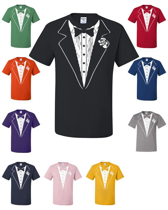 Funny Tuxedo T-Shirt Funny Wedding Gift Groom Tux Man by TeeHunt