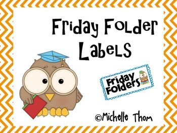 Use one of these labels to create a Friday Folder bin! Tips for use included with this FREEBIE! BONUS: Newly added editable page, just in case you do not want to do these folders on Friday!