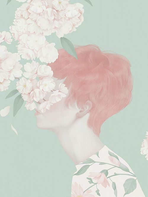 Whimsically Pale Illustrations - The Portraits of Hsiao-Ron Cheng are Femininely Enchanting (GALLERY)