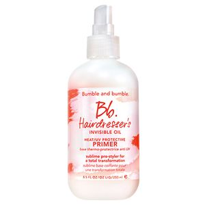Soften, detangle, de-frizz and tame fly aways with this amazing @Bumble BBHIO Heat/UV Protective Primer.
