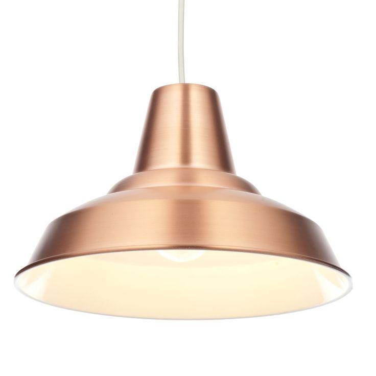 Colours Tezz Copper Light Shade (D)29cm | Departments | DIY at B&Q