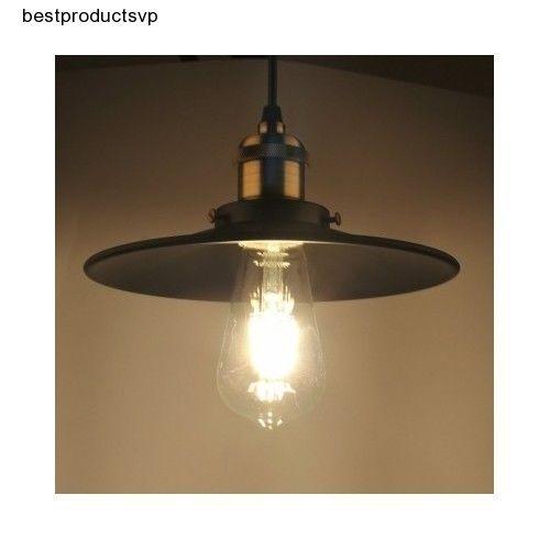 #Ebay #Pendant #Light #Black #Shade #Fixture #Vintage #Industrial