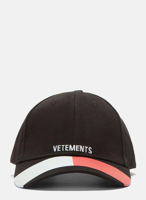VETEMENTS Tommy Logo Baseball Cap in Black €245 90b092775bd