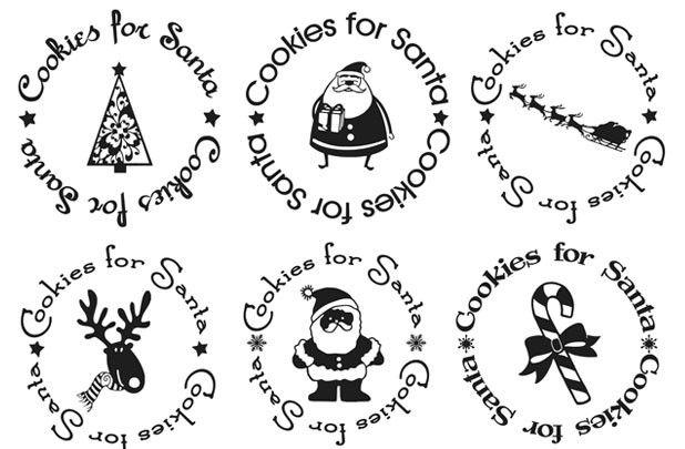 Groopdealz Cookies For Santa Vinyl Plate Decal