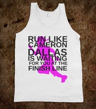 RUN LIKE CAMERON DALLAS IS WAITING FOR YOU AT THE FINISH LINE -  Organic Shirts, Hoodies, Kids Tees, Baby O...