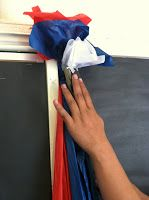 step 4 DIY tissue paper borders