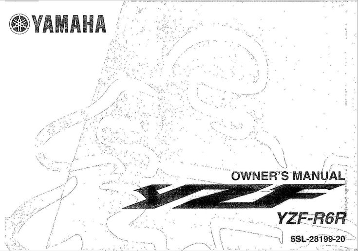 Yamaha YZFR6 R 2003 Owner's Manual has been published on