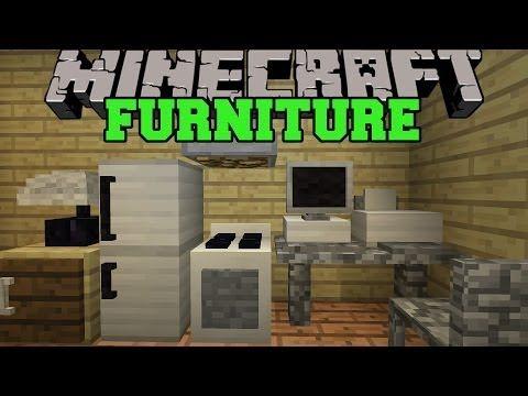 Minecraft furniture mod computer tv fridge oven for Kitchen furniture minecraft command