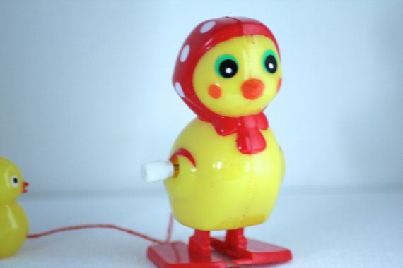 Mother duck with the little ones a retro wind up door HOPPYDESIGNS, €8.00