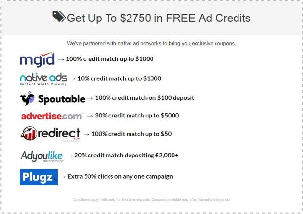 Advault Review – Native Advertisement Ad Credit  Join today and get $2750 worth of FREE native advertising ad credit #Nativeadspytool #spytool #NativeAdvertising #nativeAdNetwork